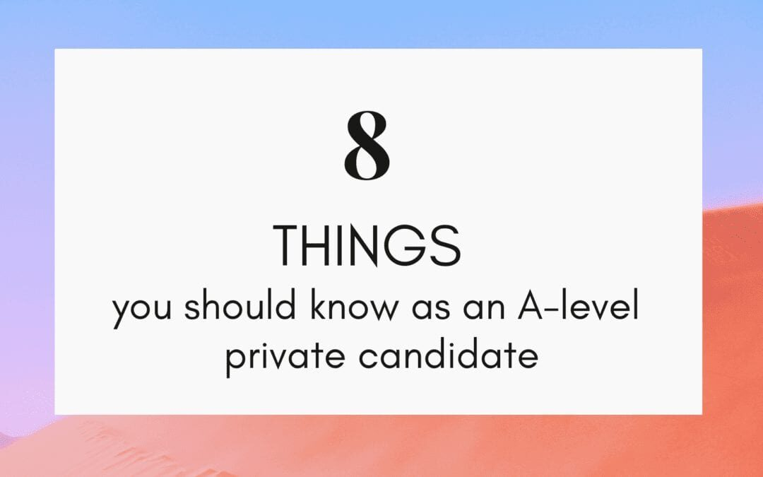 How to register as an A Level private candidate?